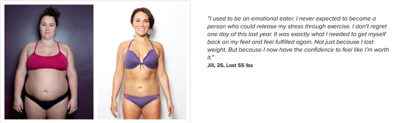 Jill lost 55 pounds.