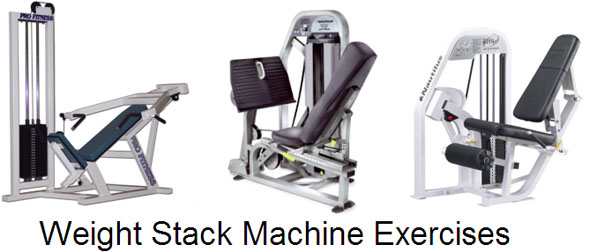 Weight Stack Machine Exercises