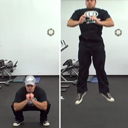 Bodyweight Jump Squats