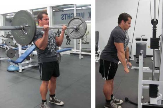 Bicep Curl & Tricep Push Down Super Set