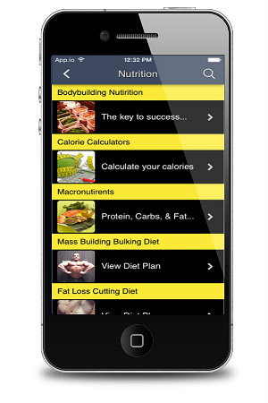 Total Fitness Bodybuilding App Nutrition Programs