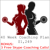 40 Week Coaching Plan for $1249