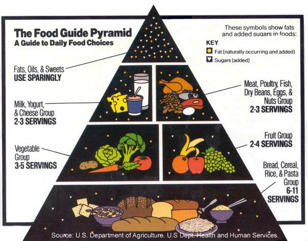 Low Fat Food Guide Pyramid
