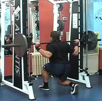 lunges smith machine