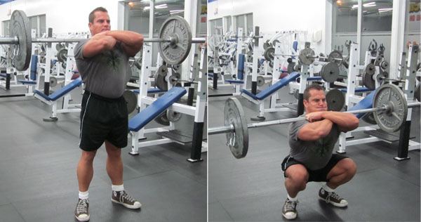 Barbell Front Squats