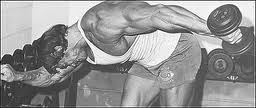 Arnold Doing Tricep Kick Backs
