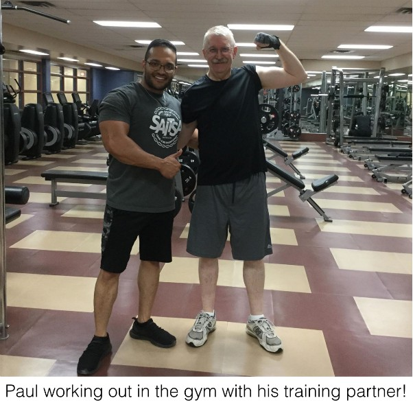 Paul working out at the gym
