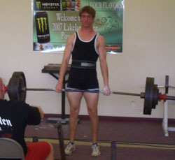Skinny Strong Powerlifter