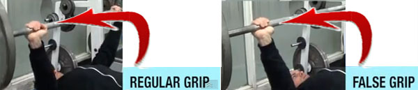False Grip Bench Press
