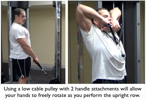 Low Cable Pulley Upright Row