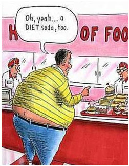 I will have a diet soda with that