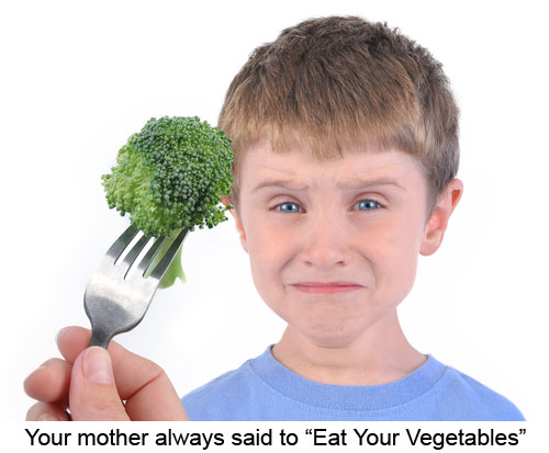 Your mother always said to Eat Your Vegetables