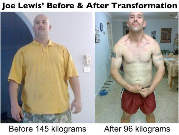 Joe Lewis Physique Transformation