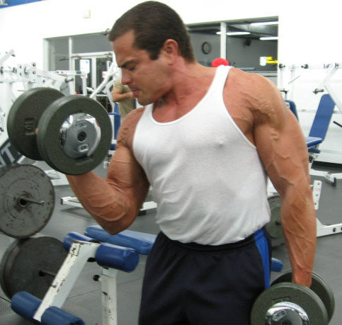 Lee Hayward Bicep Curls
