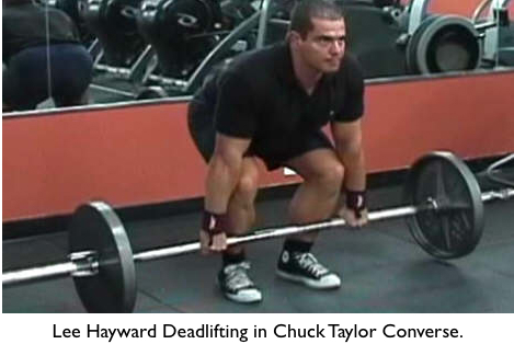 Lee Hayward Deadlifting in Chuck Taylor Converse