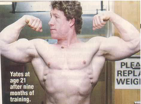 Dorian Yates after 9 months of training