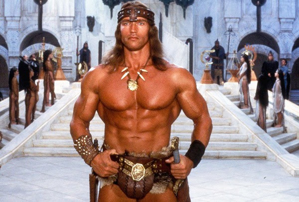 Arnold in Conan The Barbarian