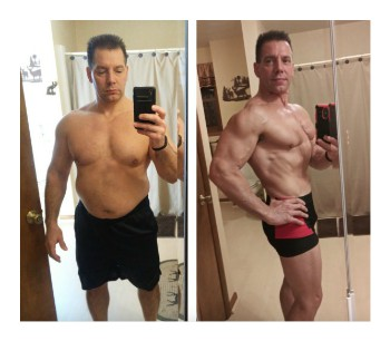 Kevin lost 40 pounds and got ripped at 51 years old