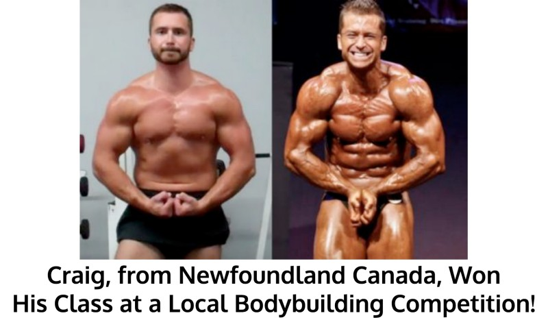 Craig Won His Class at a Bodybuilding Contest