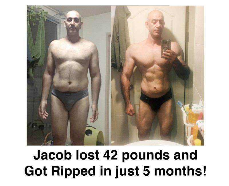 Jacob lost 42 pounds and got ripped