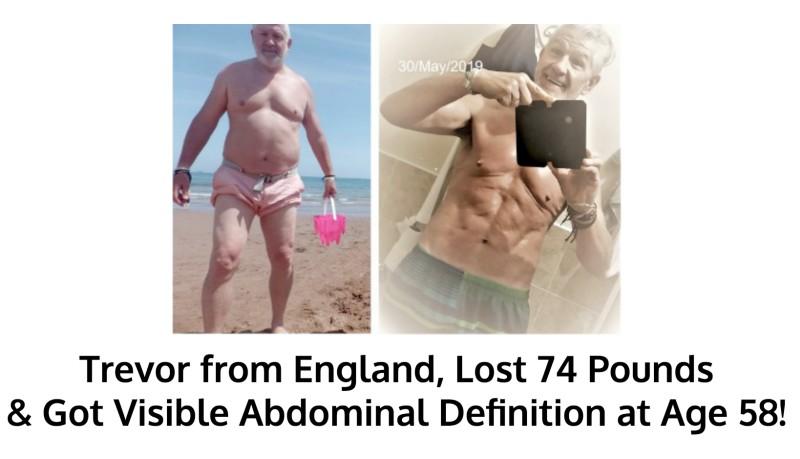 Trevor lost 74 pounds