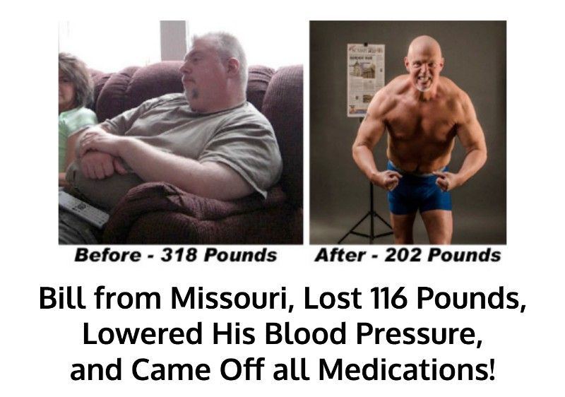 Bill lost 116 pounds and kept it off
