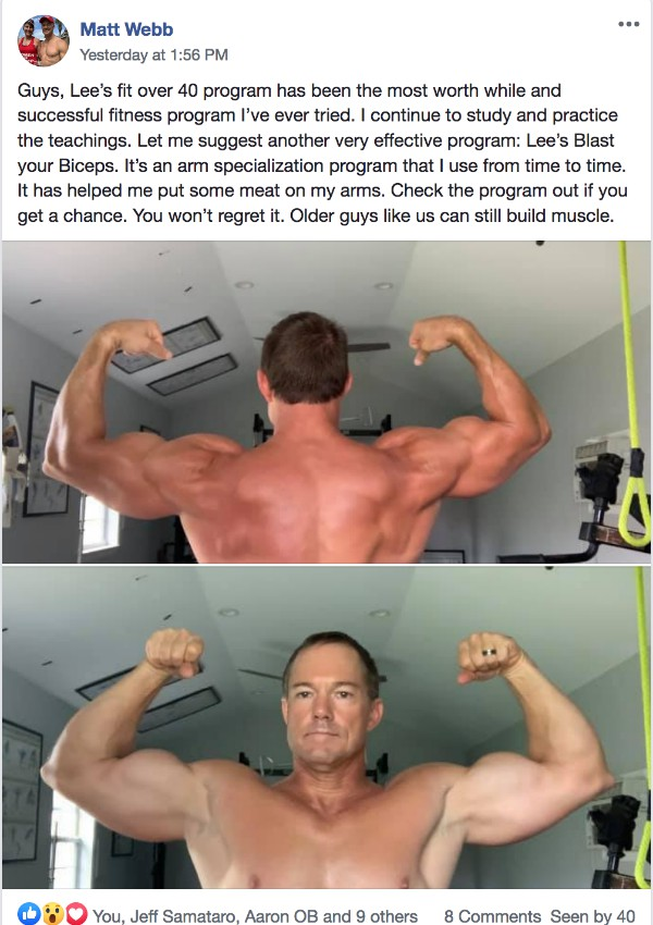 Matt is big ripped and muscular after 40