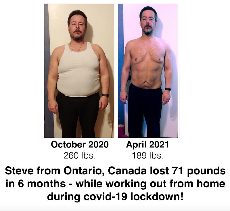 Steve lost 71 pounds