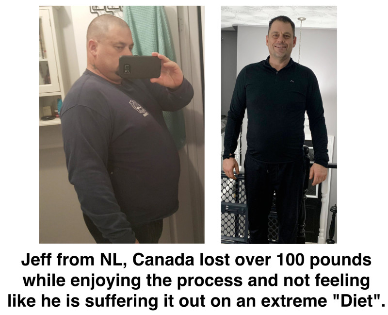 Jeff lost over 100 pounds
