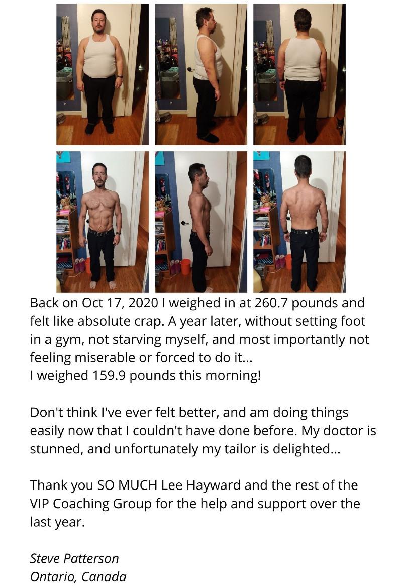 Steve lost 100 pounds
